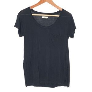 Madewell Anthem Black Scoop Neck Short Sleeve Tee